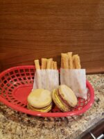 Our best seller; Yappy Meal with cheeseburger and fries
